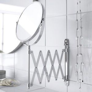 NEW IKEA FRACK Stainless Steel TELESCOPING Mirror